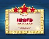 剧院标志或戏院标志 库存照片