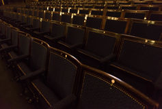 剧院椅子 免版税库存图片
