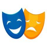 剧院歌剧面具 库存图片