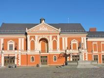 剧院正方形在克莱佩达,立陶宛 免版税库存图片