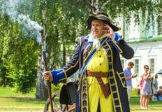 剧院演员,穿制服的队伍瑞典 库存照片