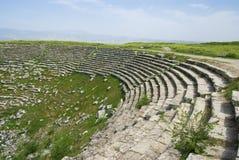 剧院的古老废墟, Laodicea废墟市罗马帝国 库存图片