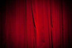 从剧院的帷幕 免版税库存照片