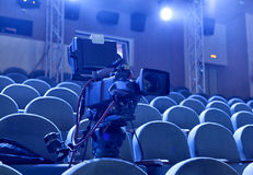从剧院的电视广播 截去数字路径专业人员录影的照相机 免版税库存图片