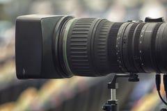 从剧院的电视广播 截去数字路径专业人员录影的照相机 免版税库存照片