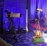 从剧院的电视广播 截去数字路径专业人员录影的照相机 免版税图库摄影