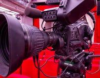 从剧院的电视广播 截去数字路径专业人员录影的照相机 库存图片