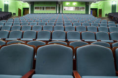 剧院的观众席蓝色和绿色口气的 免版税库存图片