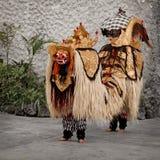 剧院的- Barong传统服装。印度尼西亚,巴厘岛 免版税库存图片