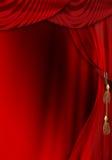 剧院阶段窗帘 库存图片