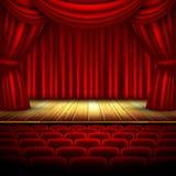 剧院阶段 库存图片