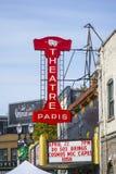 剧院巴黎在波特兰老镇-波特兰-俄勒冈- 2017年4月16日 免版税库存照片