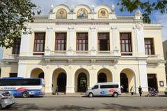 剧院Tomas特里大厦在西恩富戈斯 库存图片