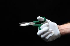 剪刀和手 图库摄影