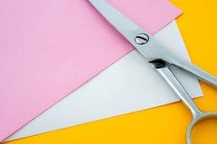 剪刀和纸张 免版税图库摄影