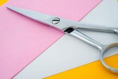 剪刀和纸张 免版税库存照片
