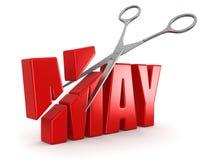 剪刀和5月(包括的裁减路线) 免版税库存照片