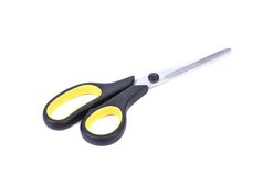 剪刀黑色和黄色 图库摄影