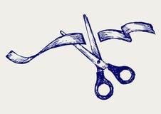 剪切丝带 库存例证