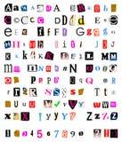剪切和被撕毁的字体 库存图片