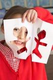 剪切女性主要学生学校形状 免版税图库摄影