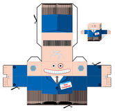 剪切并且折叠纸办公室工作者 库存图片