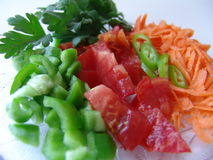 剪切新鲜蔬菜 免版税库存图片