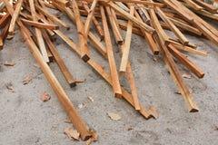 剪切木材 库存照片