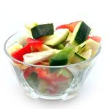 剪切未加工的蔬菜 免版税库存图片