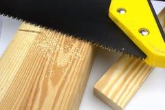 剪切杉木锯木屑木材 库存图片