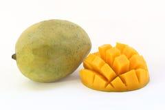 剪切果子果子芒果陈列被切的妇女 免版税库存照片