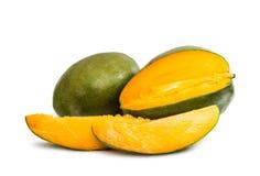剪切果子果子芒果陈列被切的妇女 免版税图库摄影