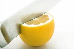 剪切柠檬 图库摄影