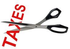 剪切查出的税务 免版税库存照片