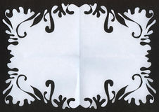 剪切框架纸张 免版税图库摄影
