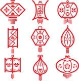 剪切灯笼纸张 皇族释放例证