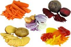 剪切片式蔬菜 免版税库存照片