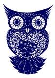 剪切猫头鹰纸张 免版税图库摄影