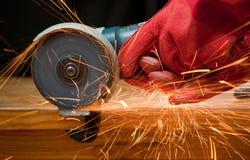 剪切研磨机小的钢 免版税库存照片