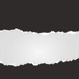 剪切纸张 被撕毁的纸空间文本 滤网元素 向量例证