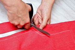 剪切织品剪刀 库存照片