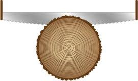 剪切老锯结构树 免版税库存图片
