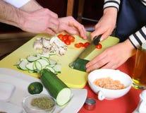 剪切蔬菜 图库摄影