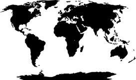 剪影世界 向量例证