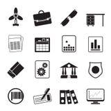 剪影企业和办公室象 库存照片