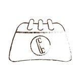 剪影凹道目录与电话联系 向量例证