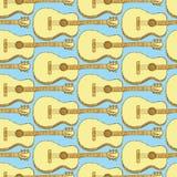 剪影吉他乐器 免版税图库摄影