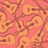 剪影吉他乐器 免版税库存图片