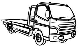 剪影大拖车 向量例证