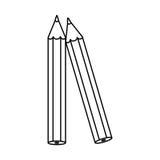 剪影套色的铅笔象 皇族释放例证
